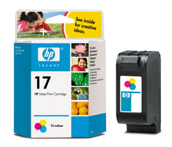 HP C6625AE Color (No. 17) tintapatron