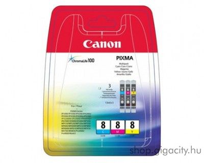 Canon CLI-8CMY eredeti multipack tintapatron csomag 0621B029