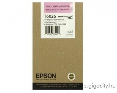 Epson T6026 eredeti photo light magenta tintapatron C13T602600