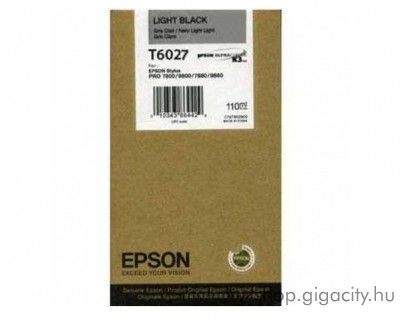 Epson T6027 eredeti light black tintapatron C13T602700