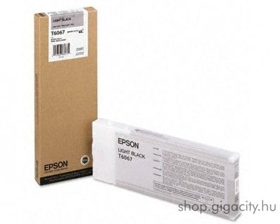 Epson T6067 eredeti light black tintapatron C13T606700