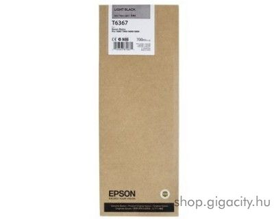 Epson T6367 eredeti light black tintapatron C13T636700