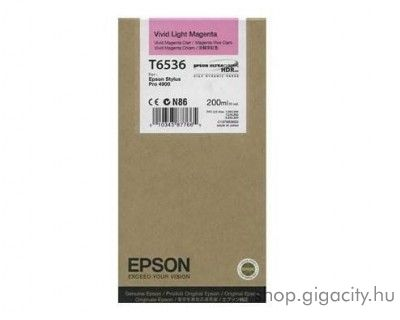 Epson T6536 eredeti photo light magenta tintapatron C13T653600