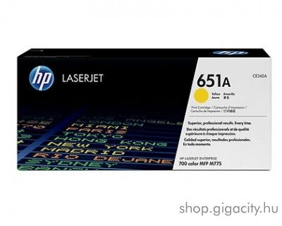 HP 651A eredeti yellow toner CE342A