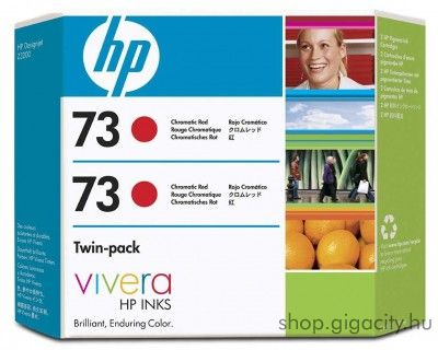 HP 73 eredeti cromatic red dupla tintapatron csomag CD952A